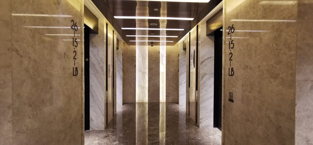 速石科技-新址电梯间,上海市杨浦区国通路118号天盛广场A栋1801室